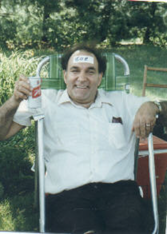 Schlitz and name tag on head